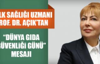 """Halk Sağlığı Uzmanı Prof. Dr. Açık'tan """"Dünya..."""