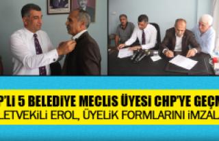 Milletvekili Erol, Üyelik Formlarını İmzaladı