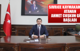 Sivrice Kaymakamlığına Atanan Ahmet Coşkun Göreve...