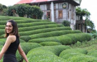 Sosyal medyada ünlenen çay bahçesi turistlerin...