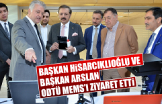Başkan Hisarcıklıoğlu ve Başkan Arslan ODTÜ...