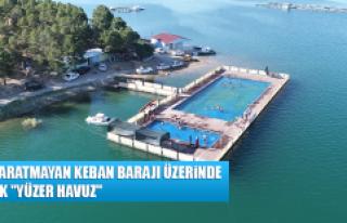 """Denizi Aratmayan Keban Barajı Üzerinde Olimpik """"Yüzer..."""