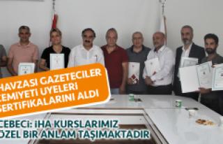 Fırat Havzası Gazeteciler Cemiyeti Üyeleri İHA...