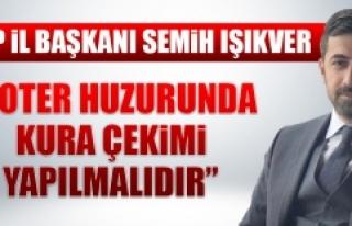 İl Başkanı Işıkver'den İl Özel İdaresi'ndeki...