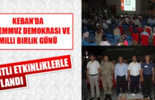 Keban'da 15 Temmuz Demokrasi ve Milli Birlik Günü