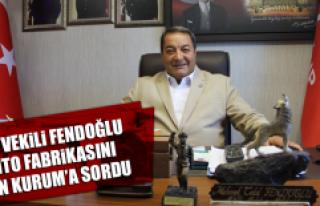Milletvekili Fendoğlu, Çimento Fabrikasını, Bakan...