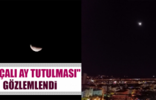 """Parçalı Ay Tutulması"" Gözlemlendi"
