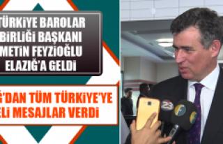 Türkiye Barolar Birliği Başkanı Metin Feyzioğlu...
