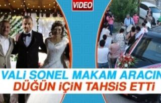 Vali Sonel, Makam Aracını Düğün İçin Tahsis...