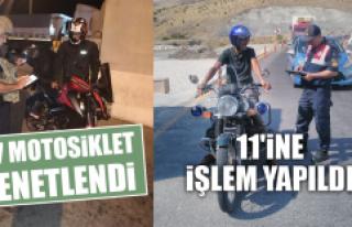 117 Motosiklet Denetlendi, 11'ine İşlem Yapıldı