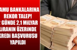 2 Günde 2,1 Milyar Liranın Üzerinde Kredi Başvurusu...
