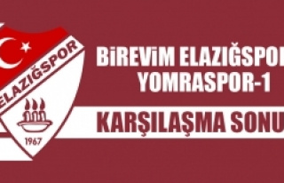 Birevim Elazığspor 0-1 Yomraspor