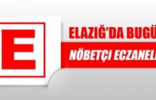 Elazığ'da 24 Ağustos'ta Nöbetçi Eczaneler
