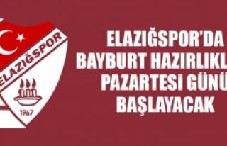 Elazığspor'da Bayburt Hazırlıkları Pazartesi...