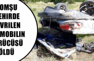 Malatya'da devrilen otomobilin sürücüsü öldü