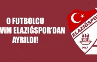 O Futbolcu B.Elazığspor'dan Ayrıldı!