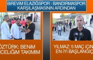 Birevim Elazığspor – Bandırmaspor Karşılaşmasının...