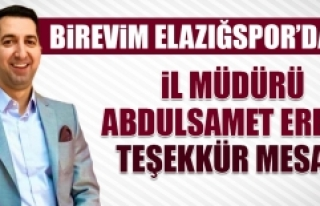 Birevim Elazığspor'dan İl Müdürü Eren'e...