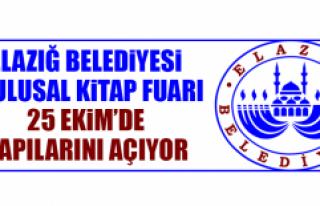 Elazığ Belediyesi 3. Ulusal Kitap Fuarı 25 Ekim'de...