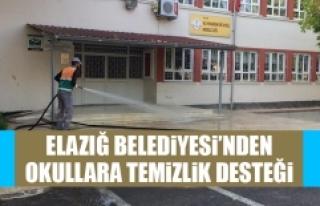 Elazığ Belediyesi'nden Okullara Temizlik Desteği
