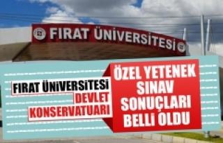 F.Ü. Devlet Konservatuarı Özel Yetenek Sınav Sonuçları...