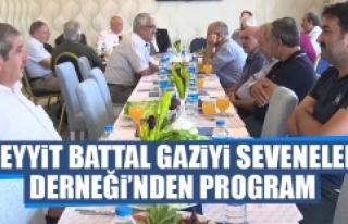 Seyyit Battal Gaziyi Seveneler Derneği'nden Program