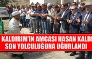 Vali Kaldırım'ın Amcası Hasan Kaldırım Son...