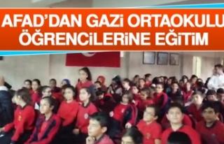 AFAD'dan Gazi Ortaokulu Öğrencilerine Eğitim