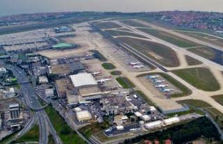 """Atatürk havalimanı'nda """"millet bahçesi""""..."""
