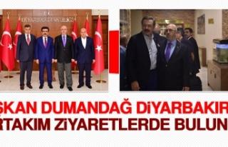Başkan Dumandağ Diyarbakırda Bir Takım Ziyaretlerde...