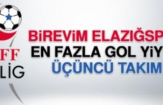 Birevim Elazığspor; En Fazla Gol Yiyen Üçüncü...