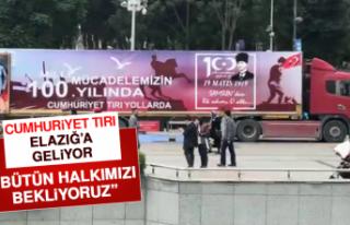 Cumhuriyet Tırı Elazığ'a Geliyor