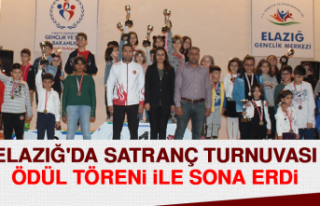 Elazığ'da Satranç Turnuvası Ödül Töreni...