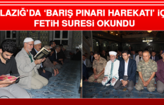 Elazığ'da 'Barış Pınarı Harekatı' İçin...