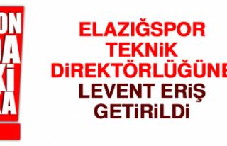 Elazığspor, Teknik Direktörlüğüne Levent Eriş...
