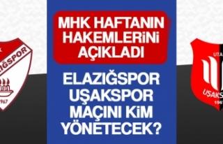 Elazığspor-Uşakspor Maçını Kim Yönetecek?