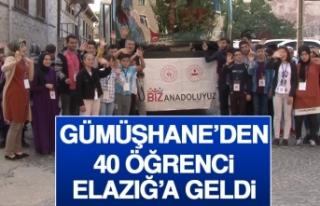 Gümüşhane'den 40 Öğrenci Elazığ'a Geldi