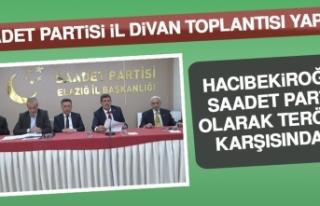 Hacıbekiroğlu: Saadet Partisi Olarak Terörün Karşısındayız