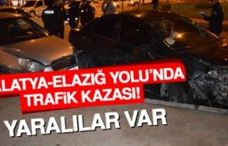 Malatya-Elazığ Yolu'ndaki Kazada Yaralılar...