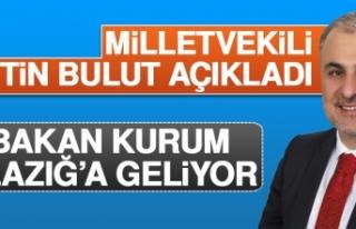 Milletvekili Bulut Bakan Kurum'un Elazığ Programını...