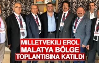 Milletvekili Erol, Partisinin Malatya Bölge Toplantısına...