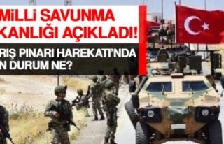 MSB Açıkladı! Barış Pınarı Harekatı'nda...