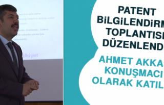 Patent Bilgilendirme Toplantısı Düzenlendi