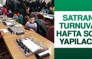 Satranç Turnuvası Hafta Sonu Yapılacak