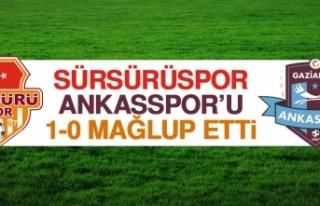 Sürsürüspor, Ankasspor'u 1-0 Mağlup Etti