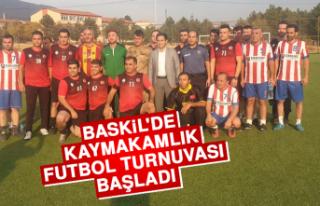 Baskil'de Kaymakamlık Futbol Turnuvası Başladı