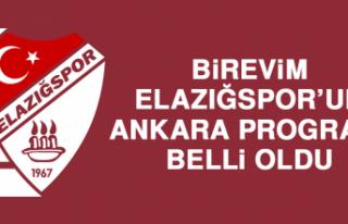 Birevim Elazığspor'un Ankara Programı Belli Oldu