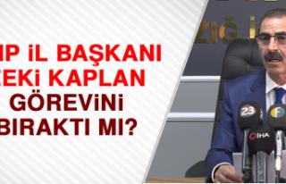 CHP il başkanı Zeki Kaplan görevini bıraktı mı?