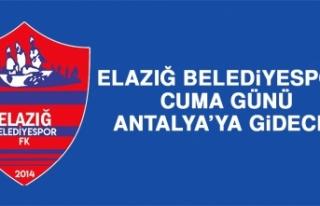 Elazığ Belediyespor Cuma Günü Antalya'ya Gidecek