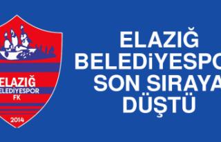 Elazığ Belediyespor, Son Sıraya Düştü